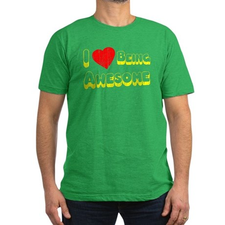 I Love [Heart] Being Awesome Mens Fitted T-Shirt