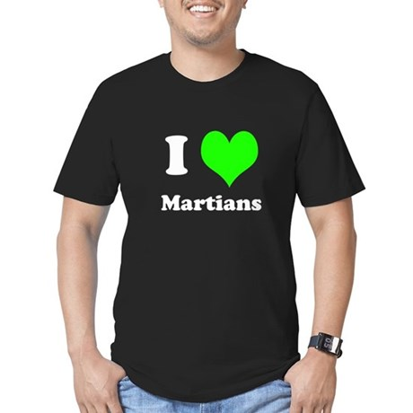 I Love Martians Mens Fitted Dark T-Shirt