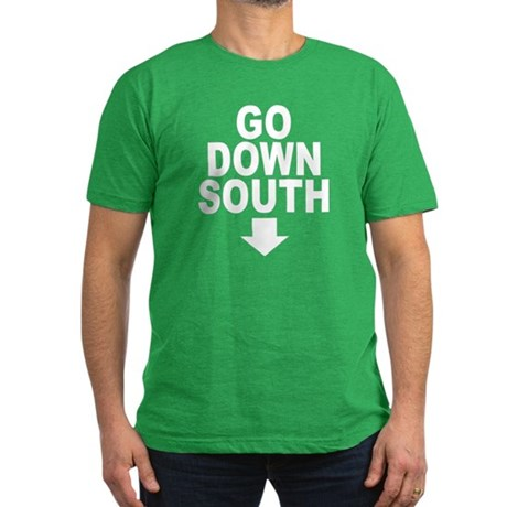 Go Down South ↓ Mens Fitted Dark T-Shirt