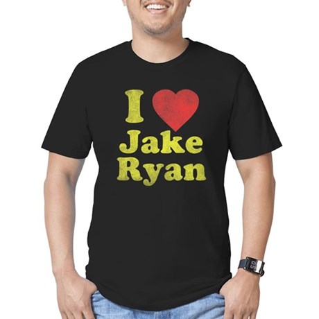 I Love Jake Ryan Mens Fitted Dark T-Shirt