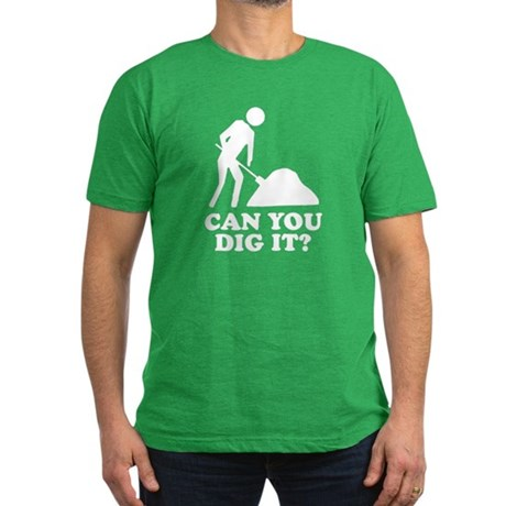 Can You Dig It Mens Fitted Dark T-Shirt