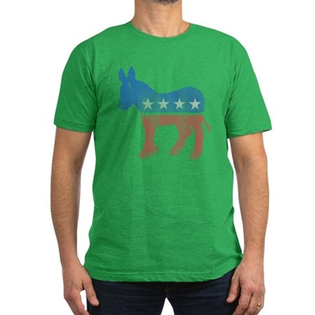 Democratic Donkey Mens Fitted Dark T-Shirt