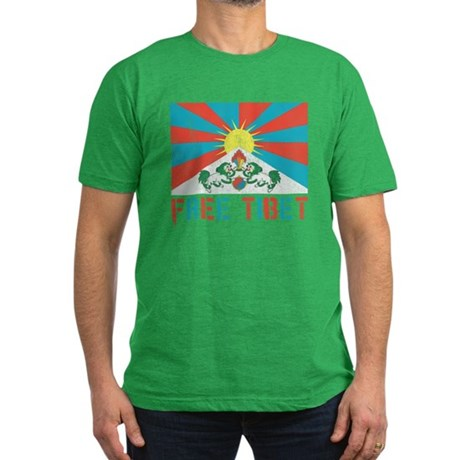 Free Tibet Mens Fitted Dark T-Shirt