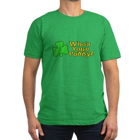 Who's Your Paddy? Mens Fitted Dark T-Shirt