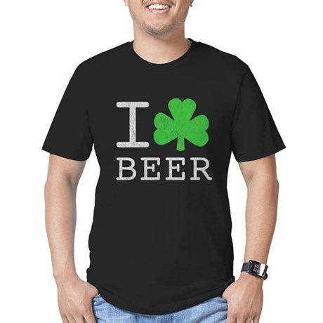 Vintage I Shamrock Beer Mens Fitted Dark T-Shirt