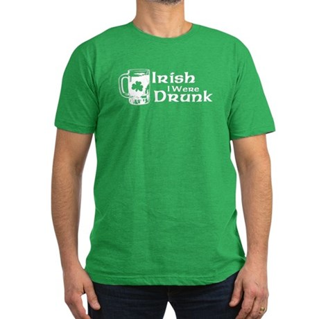 Irish I Were Drunk Mens Fitted Dark T-Shirt