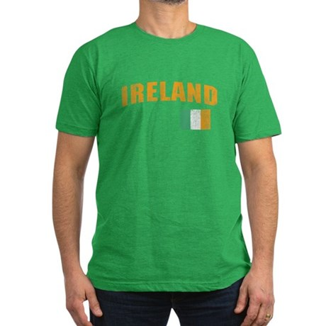 Vintage Ireland Soccer Mens Fitted Dark T-Shirt