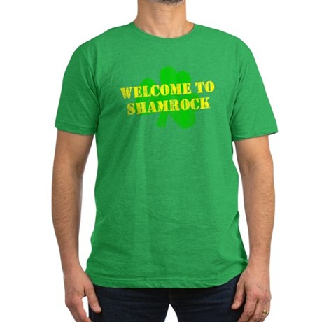 Welcome to Shamrock Mens Fitted Dark T-Shirt