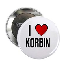 "I LOVE KORBIN 2.25"" Button (100 pack)"