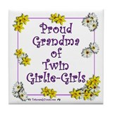 Proud Grandma of GirlieGirls Tile Coaster