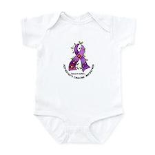 Flower Ribbon ALZHEIMERS Infant Bodysuit