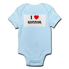 I LOVE KONNOR Infant Creeper