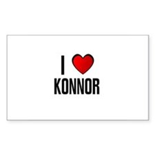 I LOVE KONNOR Rectangle Decal