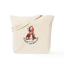 Flower Ribbon AUTISM Tote Bag
