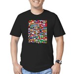 Parade of Nations Men's Fitted T-Shirt (dark)