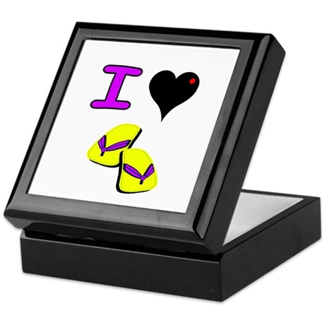 I love Flip Flops Keepsake Box