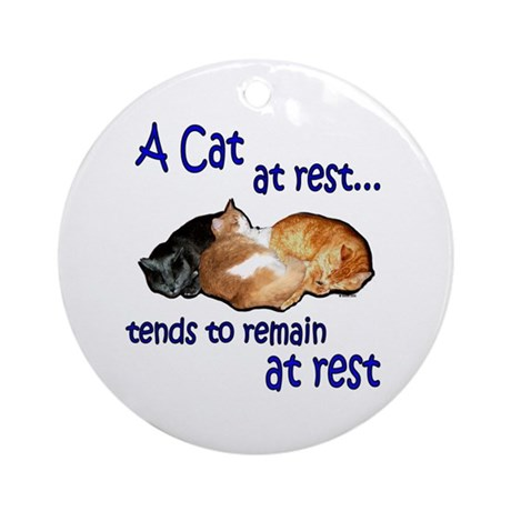 Laws of Physics Cats Ornament (Round)