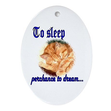 Shakespeare Cat Oval Ornament