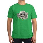 Musical Rose Men's Fitted T-Shirt (dark)