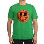 Basketball Smiley Men's Fitted T-Shirt (dark)