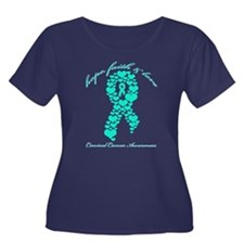 Cervical Cancer Awareness Women's Plus Size Scoop