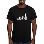 Windsurfer Evolution Men's Fitted T-Shirt (dark)