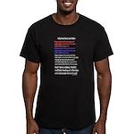 Science Geek Valentine Men's Fitted T-Shirt (dark)