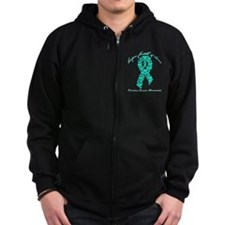 Hope Faith and Love Ovarian Zip Hoodie