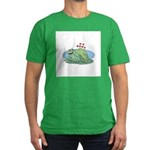 Frogs in Love Men's Fitted T-Shirt (dark)