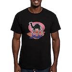 Colorful Camel Design Men's Fitted T-Shirt (dark)