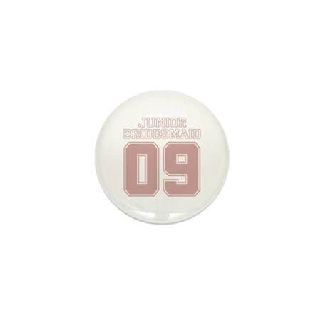 Pink Junior Bridesmaid 09 Mini Button (100 pack)