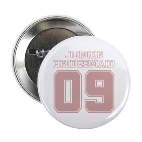 "Pink Junior Bridesmaid 09 2.25"" Button"