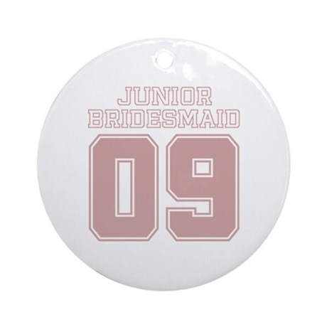 Pink Junior Bridesmaid 09 Ornament (Round)