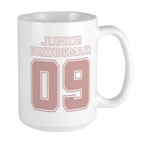 Pink Junior Bridesmaid 09 Large Mug