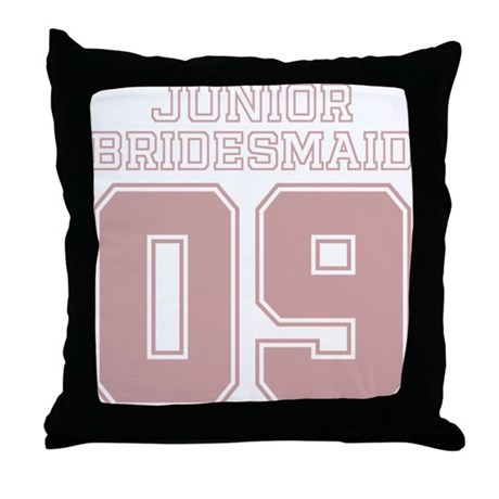 Pink Junior Bridesmaid 09 Throw Pillow