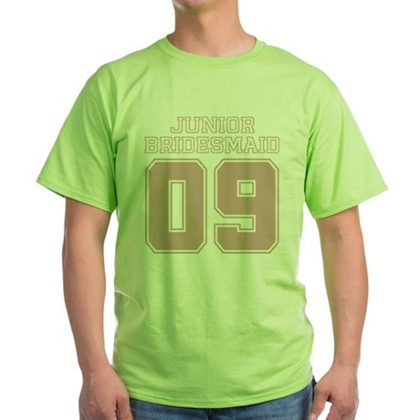 Pink Junior Bridesmaid 09 Green T-Shirt