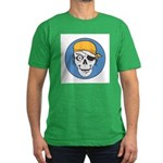 Colored Pirate Skull Men's Fitted T-Shirt (dark)