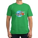 Retro Aeroplane Jet Plane Men's Fitted T-Shirt (da