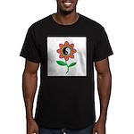 Retro Yin Yang Flower Men's Fitted T-Shirt (dark)