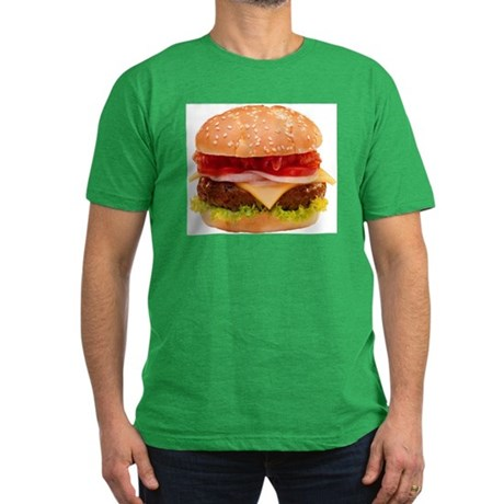 yummy cheeseburger photo Men's Fitted T-Shirt (dar