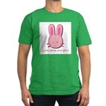 Breast Cancer Bunny Men's Fitted T-Shirt (dark)