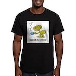 Cofee Alien Men's Fitted T-Shirt (dark)
