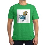 Aquarius Cool Water Design Men's Fitted T-Shirt (d