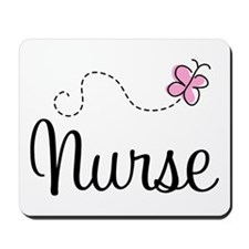 Nurse Gift Butterfly Mousepad