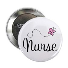 "Nurse Gift Butterfly 2.25"" Button"