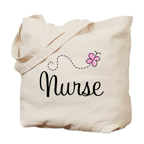 Nurse Gift Butterfly Tote Bag