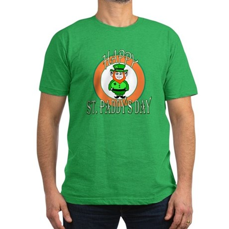 Leprechaun Happy St Paddy's Men's Fitted T-Shirt (