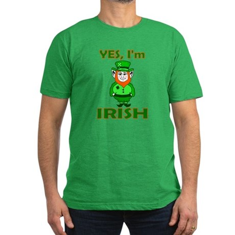 Yes I'm Irish Men's Fitted T-Shirt (dark)