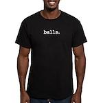 balls. Men's Fitted T-Shirt (dark)
