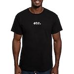 etc. Men's Fitted T-Shirt (dark)